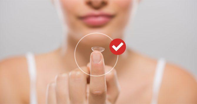 Você sabe qual é o lado certo da lente de contato?